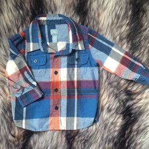 GAP Shirts & Tops - Boys Flannel Lot size 12-18 months GAP, baby bgosh